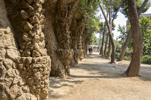 Park Guell by Gaudi in Barcelona Spain