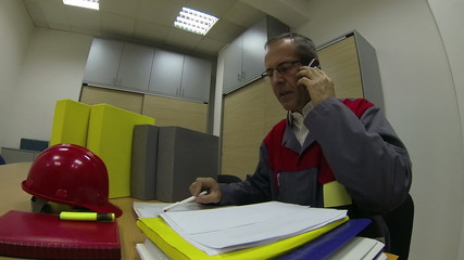 Project Manager With Cellphone