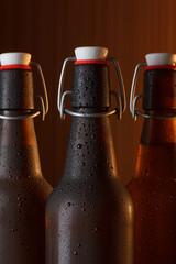 Beer bottles with vintage swing top