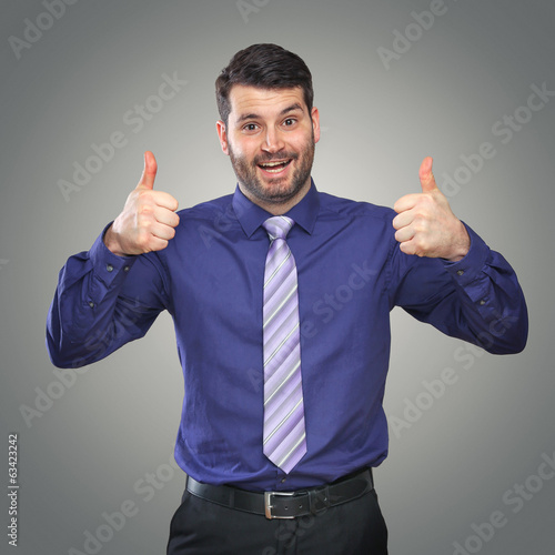 canvas print picture Businessman Thumps up