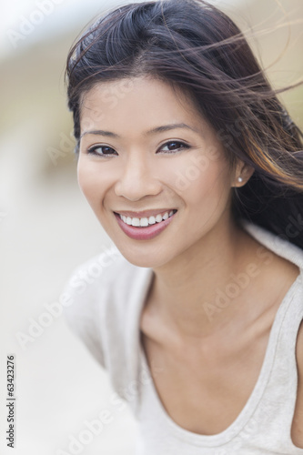 Beautiful Chinese Asian Young Woman Girl