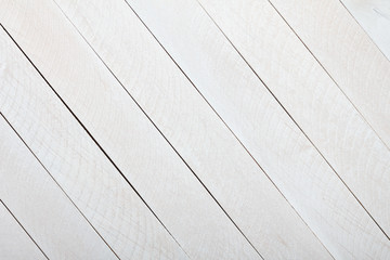 White wooden painted planks background