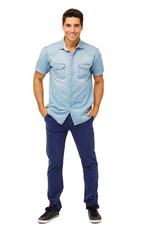 Portrait Of Confident Man With Hands In Pockets