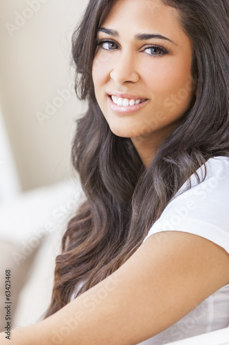 Beautiful Hispanic Woman Smiling
