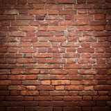 Fototapety Old grunge red brick wall texture