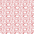 Abstract heart shaped seamless wallpaper pattern