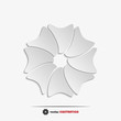 Abstract paper flower web icon