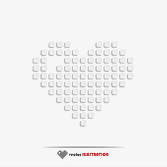 Abstract heart web icon