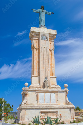 Statue of Jesus of the Sacred Heart at Menorca
