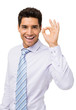 Happy Businessman Gesturing Okay