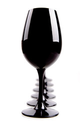Black Wine Glasses For Blind Tasting