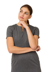Thoughtful Businesswoman With Hand On Chin