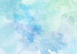 Leinwandbild Motiv Beautiful Blue Watercolor Background
