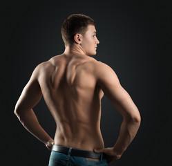 bodybuilder shows dorsi