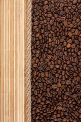 coffee beans, mat and rope for the menu