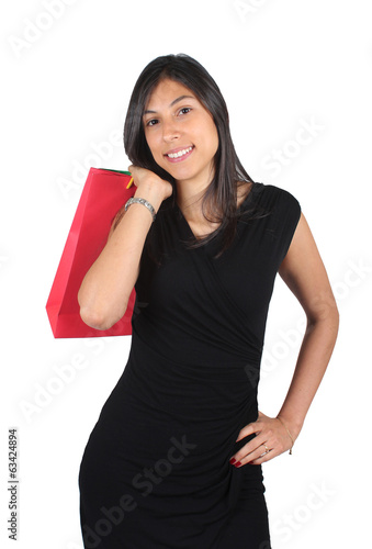 Sexy woman with shopping bags