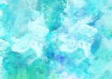 Fototapety Beautiful Sea Watercolor Background