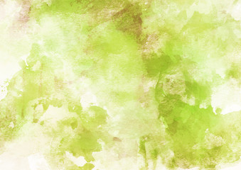 Soft Green Watercolor Background