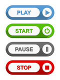 Play Start Pause and Stop Buttons poster