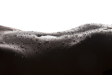 Water drops on woman skin
