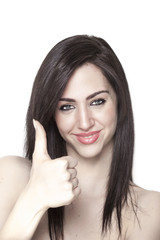 Girl with thumbs-up
