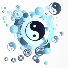 decorative art ying yang symbol