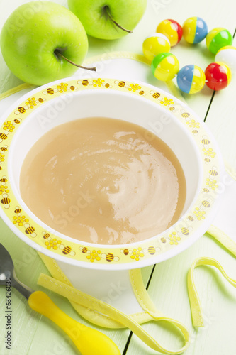 Apple puree, baby food