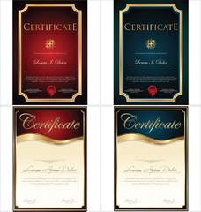 Certificate template, set