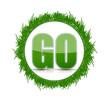 go green grass concept illustration design