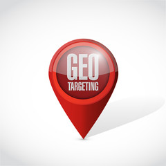 geo targeting pointer illustration design