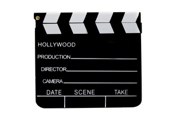 Clapperboard on an isolated background