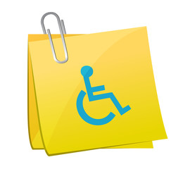post it handicap illustration design