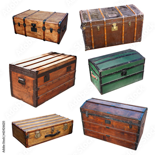 Malle en bois - Wood trunk
