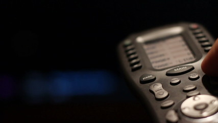 Close up Of TV Remote Changing Channels HD