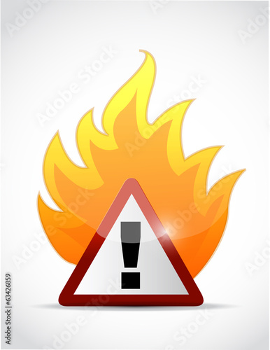 fire warning symbol illustration design