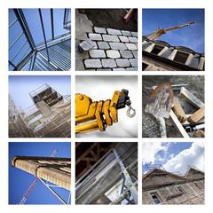 Collage sur les chantiers de rénovation