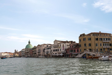 A view of the Chiesa de San Simeone Piccolo in the Grand Canal