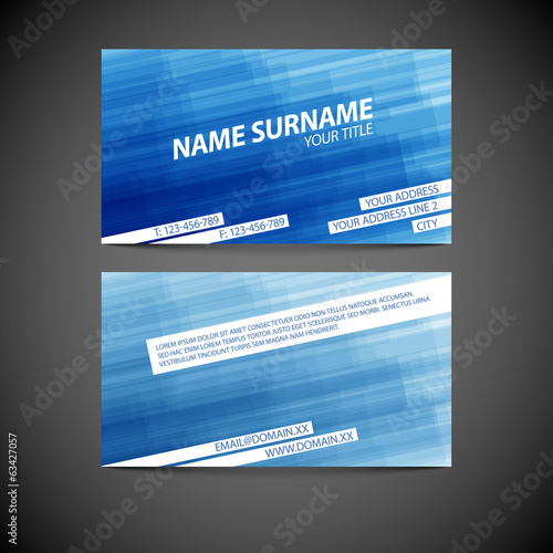 Vector modern business card template
