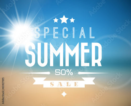 Vector summer sale poster