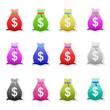 Money bag icons