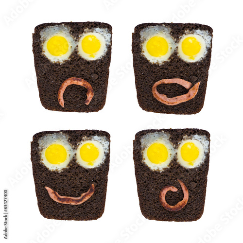 toast (funny faces)
