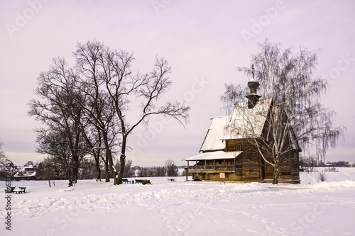wooden church in Suzdal, Russia