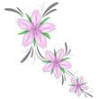 Fiori di ciliegio decorazione tattoo