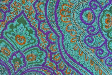floral ornamental fabric texture