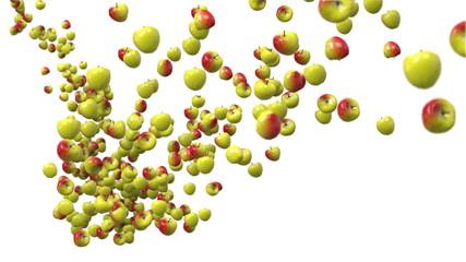 Apple falling.