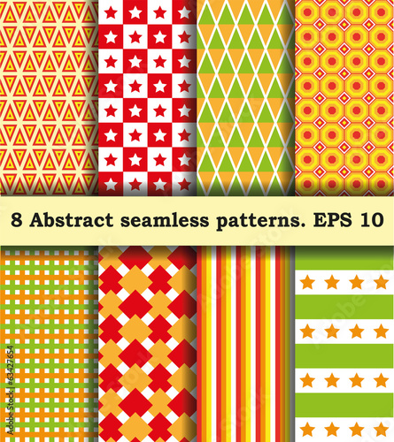 Set Fabric With Abstract Pattern