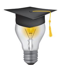 Light Bulb with graduation hat