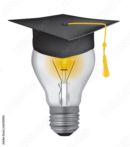 Light Bulb with graduation hat