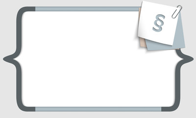 vector frame for any text with square brackets and paragraph
