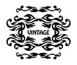 Vintage pattern. Vintage frame. Black and white